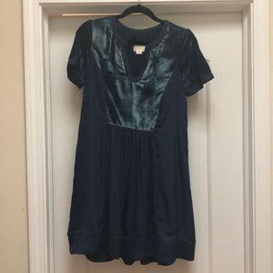 Velvet accent dress